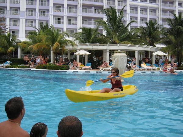 Pool Kayak Lady