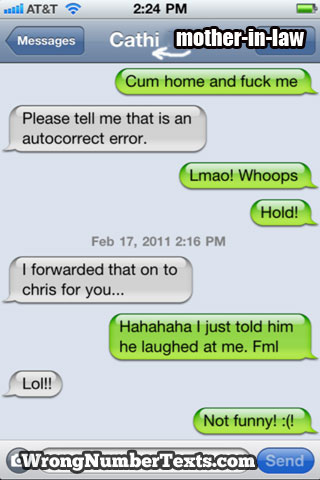 What Not To Accidentally Text Your Mother In Law