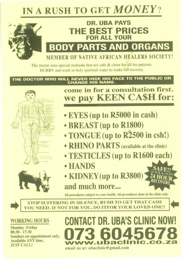 Sell Your Testicles (And Other Body Parts)