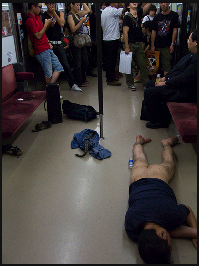 Drunk, Naked & Passed Out On a Train... Just Another Day in Japan
