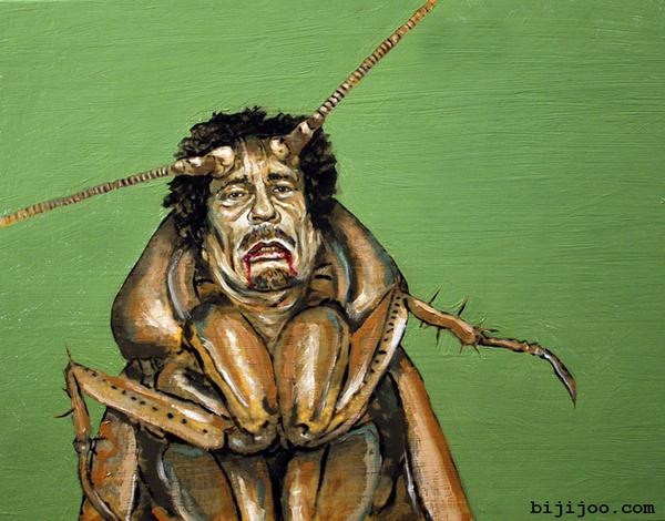 Muammar Al-Gaddafi As A Cockroach