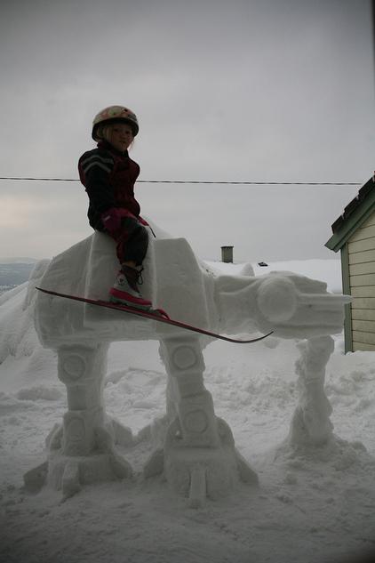 AT-AT Snow Sculpture