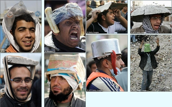 The Best Makeshift Helmets Of Cairo Protesters