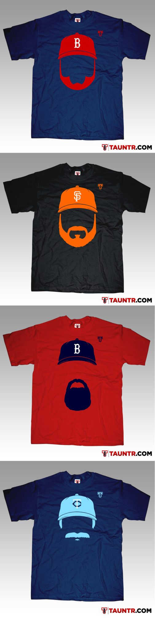 More MLB Mustache Shirts