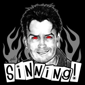 Charlie Sheen - SINNING - T-shirt