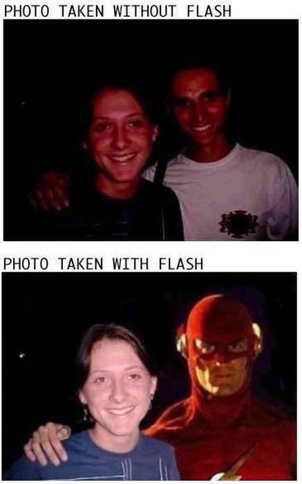 A Photo Taken With And Without Flash