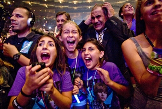 Dad At Justin Bieber Concert