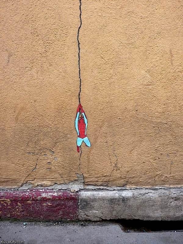 Tiny Spiderman Graffiti