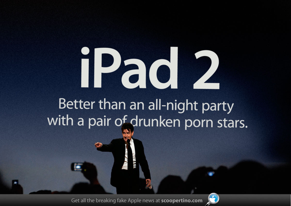 Apple Snares Charlie Sheen As Corporate Spokesperson