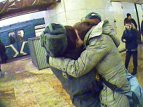 A Welcome Kiss to the Russian Police