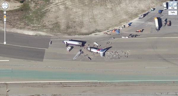 Crashed Airplane On Google Maps