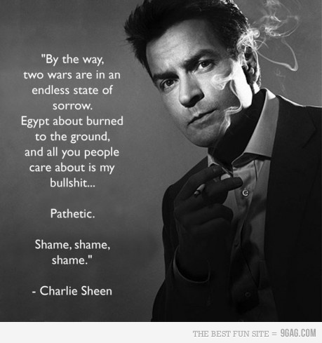 Charlie Sheen Is Interested in Egypt