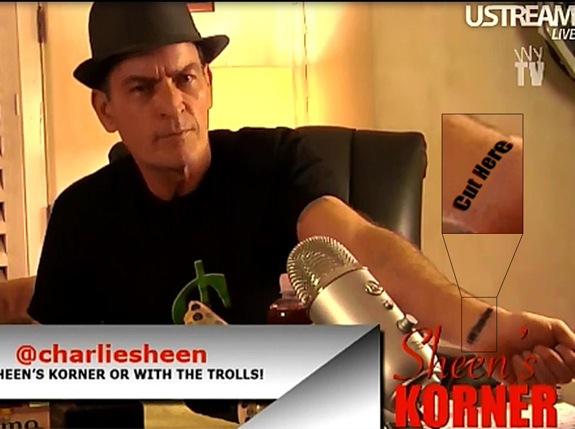 Charlie Sheen's New Tattoo
