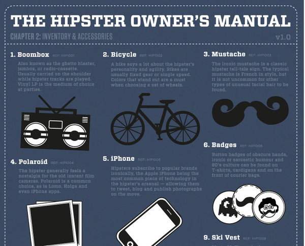 The Hipster's Owner Manual