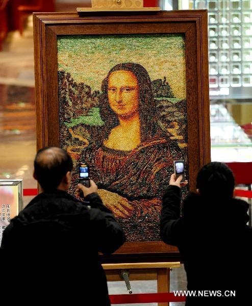 100,000 Carat Gem-Studded Mona Lisa