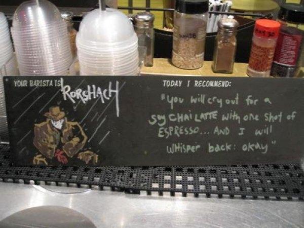 Rorschach's Coffeeshop