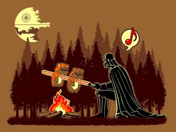Darth Vader Goes Camping On Endor's Moon