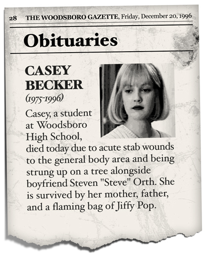 Remembering Ghostface's Victims: Obits from the Original 'Scream' Trilogy