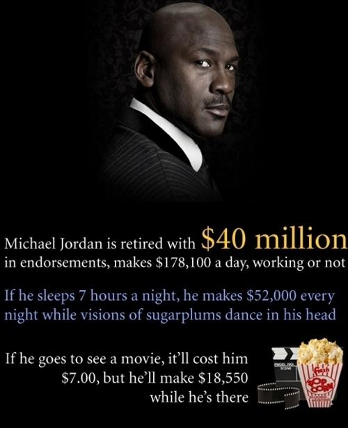 Michael Jordan Makes Your Salary in 1 Nights Sleep