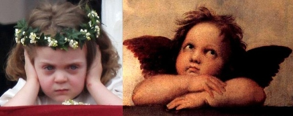 I Knew I Had Seen Scowling Flower Girl Somewhere Before...