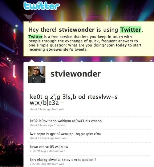 Stevie Wonder is On Twitter!