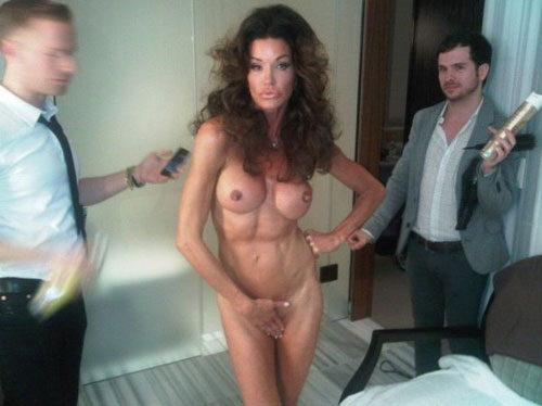 Janice Dickinson Is Naked, Gross (NSFW)