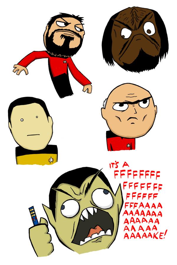 Star Trek: TNG Rage Faces