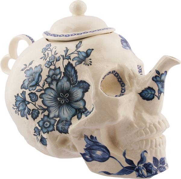 Skull Flower Teapot by Trevor Jackson