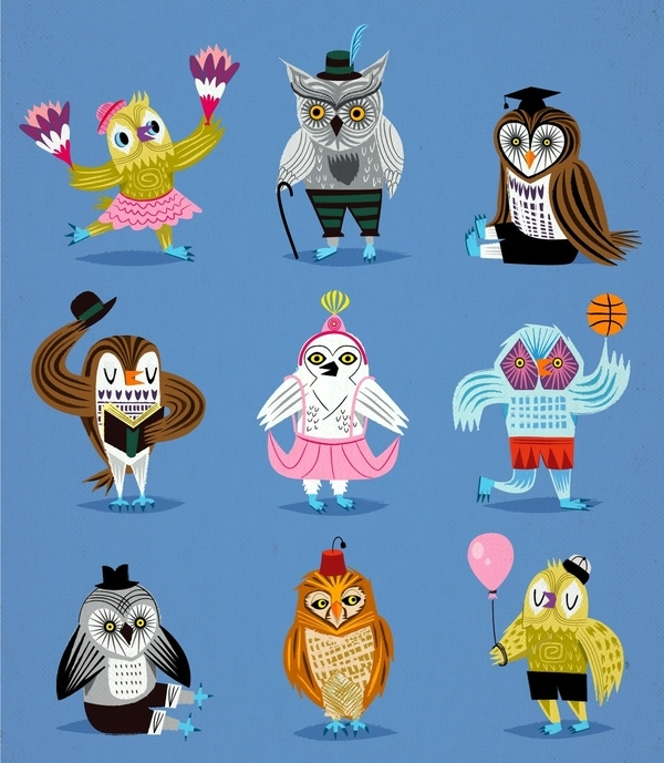 Owls Wearing Outfits