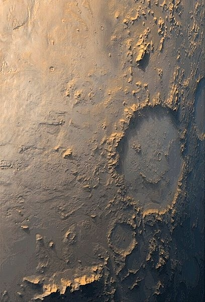 Giant Happy Face On Mars