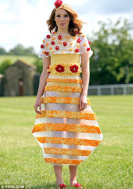 Dresses Made Entirely From Cheese