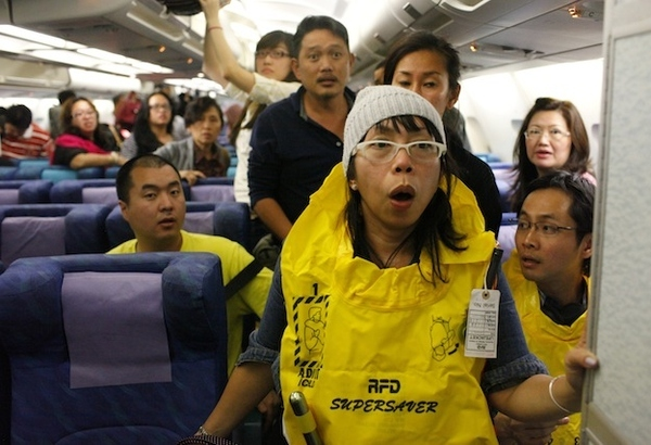 What Do People Look Like When Death By Plane Crash Is Imminent?