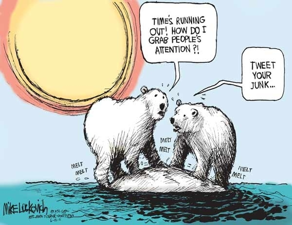 Polar Bears Worried About Global Warming