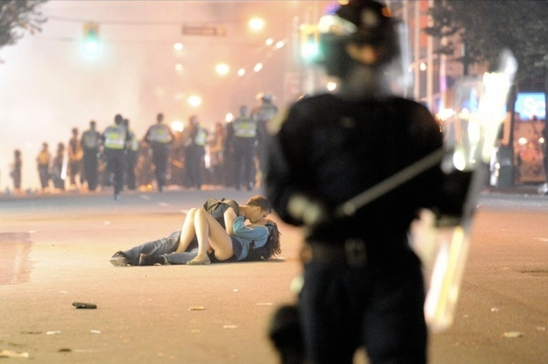 Young Woman With The Best Upskirt Pic Of The Vancouver Canucks Riots