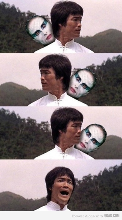 Bruce Lee Isn't Scared Of Anything