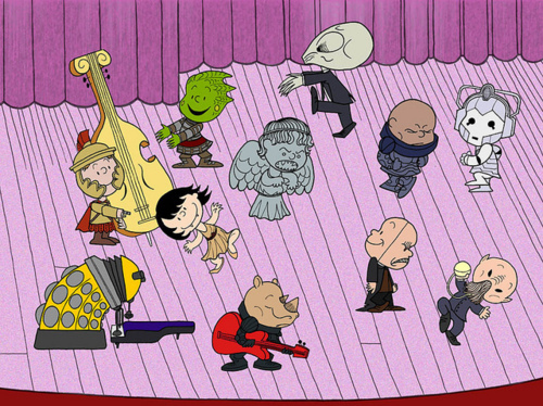 Doctor Who / Peanuts Mash-Up
