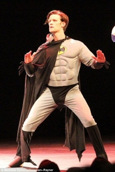 Matt Smith Dressed As Batman