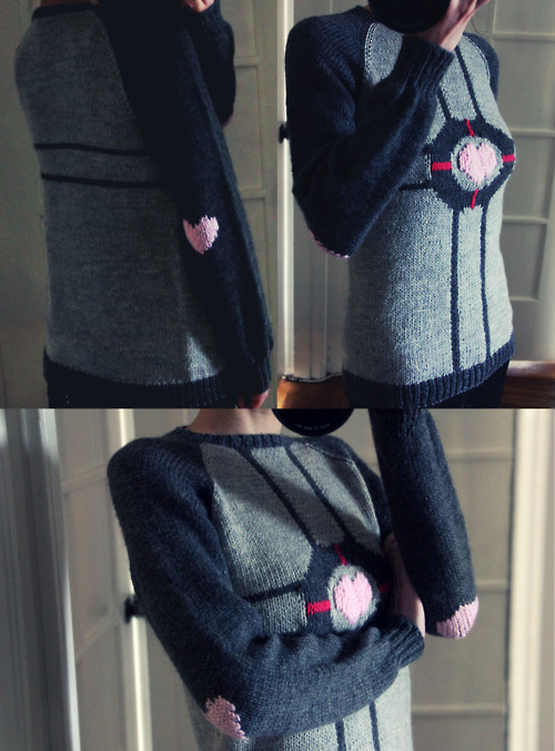 Weighted Companion Cube Sweater From Portal