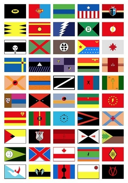 Superhero Flags