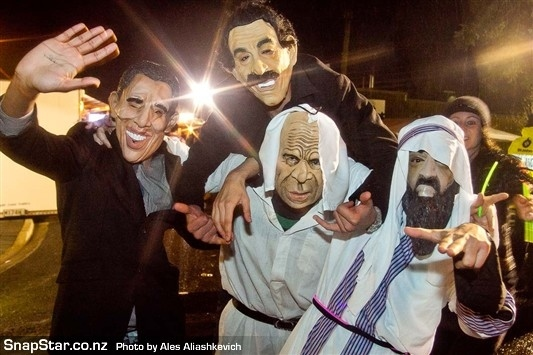 Osama, Obama & Sadam Hit Mardi Gras!