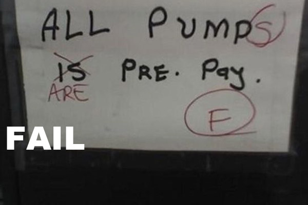 Grammar Nazi Pump