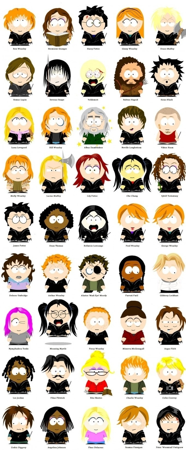 When Harry Potter Goes South Park