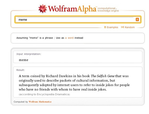 Wolfram Alpha Is MEAN