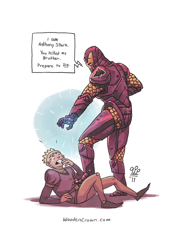 Game Of Thrones x Iron Man + Princess Bride