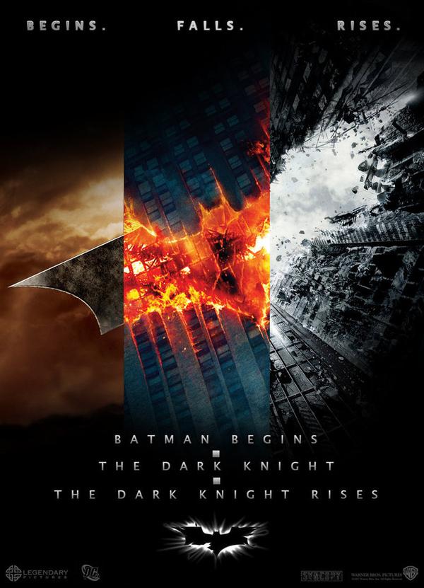 Batman Trilogy Posters Combined