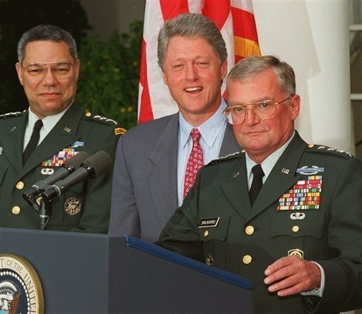 President Clinton's Joint Chiefs Chairman Dies