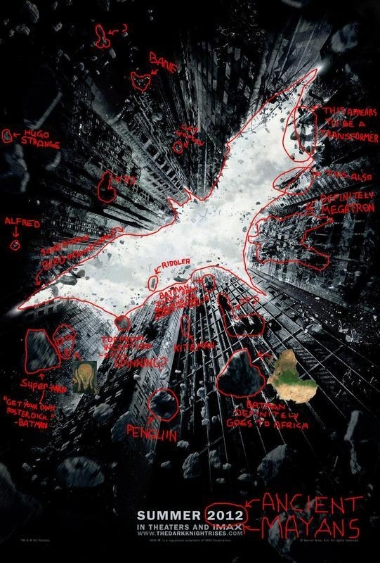 """The Dark Knight Rises Poster - With """"Easter Eggs"""""""