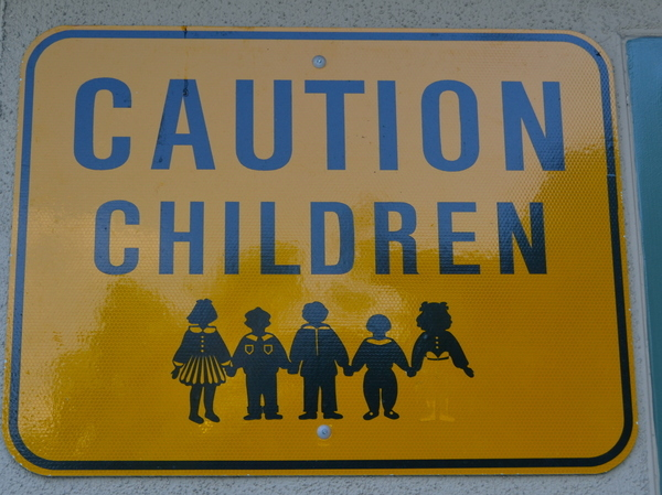 "Creepiest ""Caution Children"" Sign Ever"