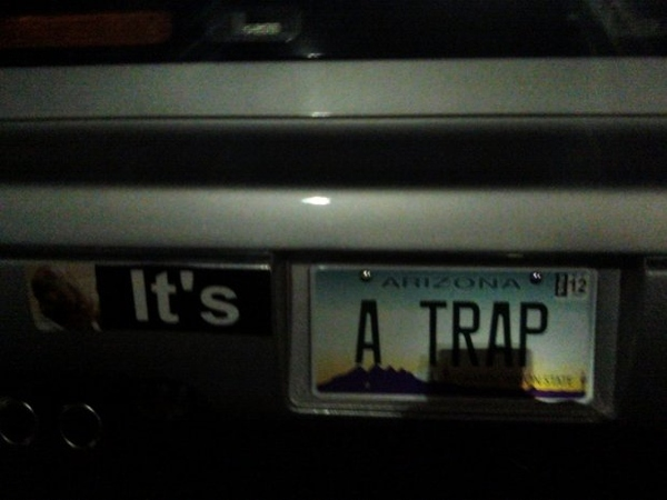Geeky License Plate Win