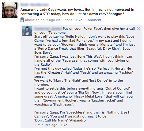 Cleverest Lady Gaga Fan Ever